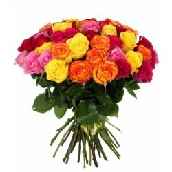 Букет из 51 цветной розы