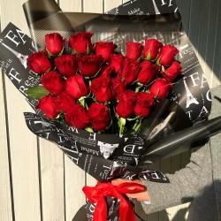Сборный букет из 25 роз