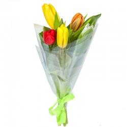 Букет из 5-ти тюльпанов