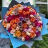 Букет из 101 цветной розы